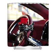 Red Top Hat Shower Curtain