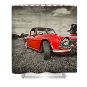 Red Tr4  Shower Curtain