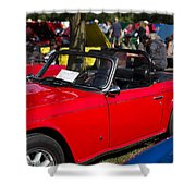 Red Tr6 Shower Curtain
