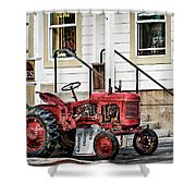 Red Tracktor Shower Curtain
