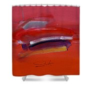 Red Trawler Shower Curtain