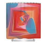 Red Tubes 3 Shower Curtain