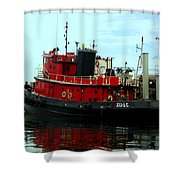 Red Tugboat Shower Curtain