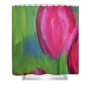 Red Tulips 2 Shower Curtain