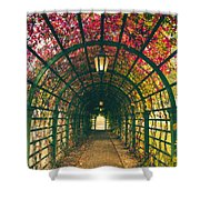 Red Tunnel Shower Curtain