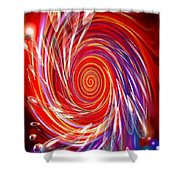 Red Twirl Shower Curtain