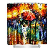 Red Umbrella Shower Curtain