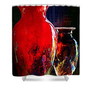 Red Vase Shower Curtain