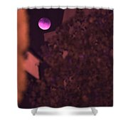 Red-violet Moon Shower Curtain