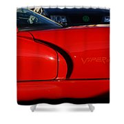 Red Viper Shower Curtain