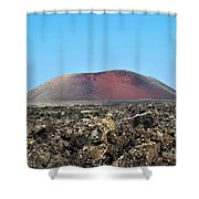 Red Volcano Shower Curtain