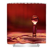 Red Water Drop Shower Curtain