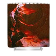 Red Wave Shower Curtain