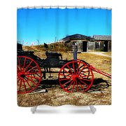 Red Wheels Shower Curtain