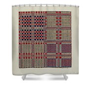Red, White & Blue Coverlet Shower Curtain