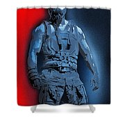 Red White And Bane Shower Curtain