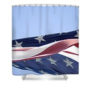 Red White And Blue - American Flag Shower Curtain