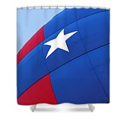 Red White And Blue Balloon Shower Curtain