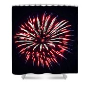 Red White And Blue Fireworks Shower Curtain