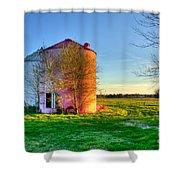 Red White And Blue Glory Shower Curtain