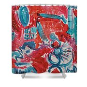 Red, White, And Blue Shower Curtain