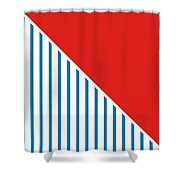 Red White And Blue Triangles 2 Shower Curtain