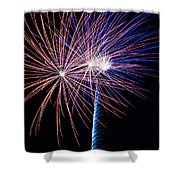 Red White And Boom Shower Curtain