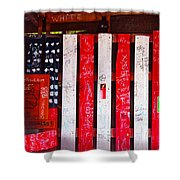 Red White And Fish Shack Shower Curtain