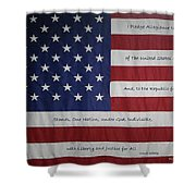 Red White And True Shower Curtain