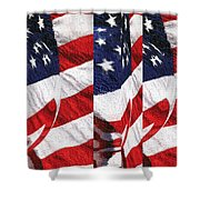 Red White Blue - American Stars And Stripes Shower Curtain