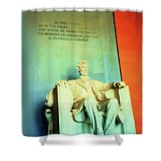 Red White Blue Lincoln Shower Curtain