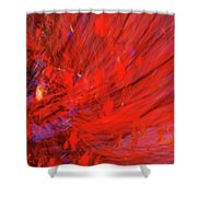 Red Wind Shower Curtain