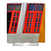 Red Windows Shower Curtain