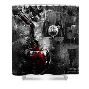Red Wine 01 Shower Curtain