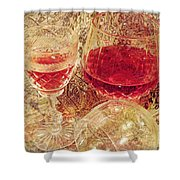 Red Wine 3 Shower Curtain