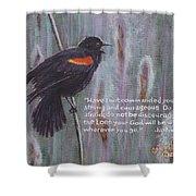 Red Wing Blackbird Shower Curtain