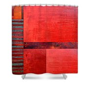 Red With Orange 2.0 Shower Curtain