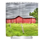 Red Wood Barn - Edna, Tx Shower Curtain