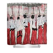 Red Woods Angels Black Like Me Shower Curtain
