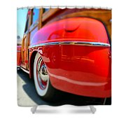 Red Woody Oc Shower Curtain