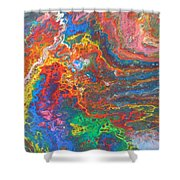 Red Yellow Blue Abstract Shower Curtain