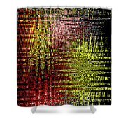 Red Yellow White Black Abstract Shower Curtain
