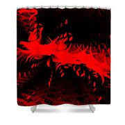 Red Zone Shower Curtain