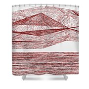 Red.319 Shower Curtain
