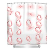 Red.444 Shower Curtain