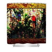 Redbird Sifting Beauty Out Of Ashes Shower Curtain