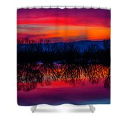Reddening Sunset Shower Curtain