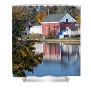 Redd's Pond Boathouse Marblehead Ma Massachusetts Shower Curtain