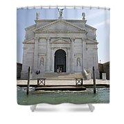 Redentore Church In Venice Shower Curtain