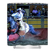 Rodeo Queen At The Grand National Rodeo Shower Curtain
